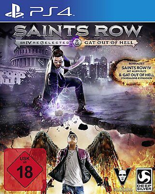 PS4 Spiel Saints Row 4 IV Re-elected + DLC für Gat Out of Hell NEUWARE