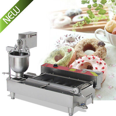 Delicious Commercial Automatic Donut Maker Making Machine+3 Mold+Wide Oil Tank