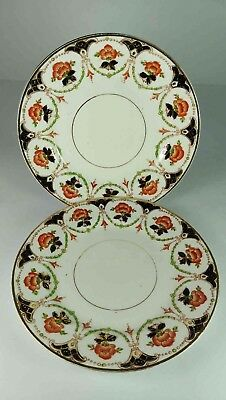 CLIFTON CHINA KESWICK IMARI SIDE PLATES SET OF 2 c. 1913+