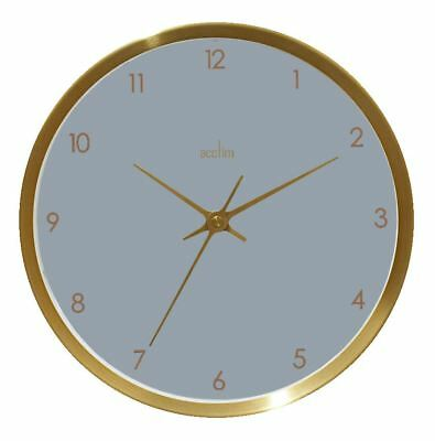 Eadie Design Brushed Gold Effect Wall Clock Dusk Grey Dial 25cm by Acctim