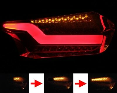 Led bar Rear Lights Taillights for Ford Focus Mk3 st Black Sequential Indication