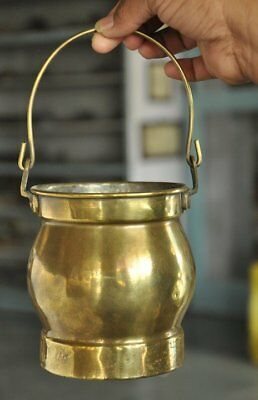 Old Brass Handcrafted Unique Shape Handcrafted Milk/Oil Pot , Rich Patina