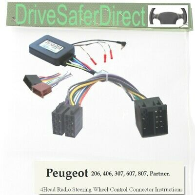 SWC-6011-02J Stalk Adaptor,ISO-JOIN for Chinese Radio/Peugeot 307,607 02-04