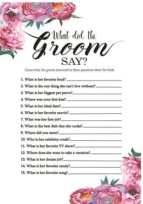 Hen Night Party Pk Of 10 What Did The Groom Say Peony S