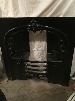 Lovely antique style cast iron fire insert