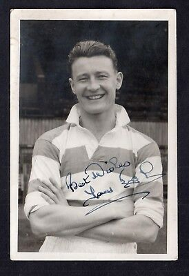 Postcard Football QUEENS PARK RANGERS 1950's ink signed player Tony Ingham