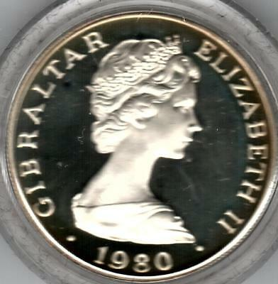 1980 Gibraltar Silver Crown to Commemorate the 175th Anniversary of Lord Nelson
