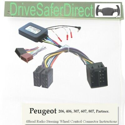 SWC-6011-03J Steering Wheel Control,ISO-JOIN for Chinese Radio/Peugeot 406 02-04