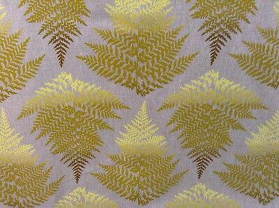 Filix Cadmium Fern Linen Designer Curtain Upholstery Craft Fabric