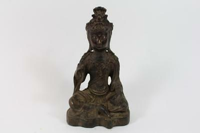 Skulptur Bronze Buddha Guanyin in Meditation China