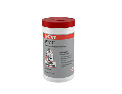 Loctite 34943 SF 7617 Waterless Hand Cleaning Wipes - 75 Wipes