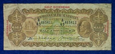 1926 Commonwealth of Australia Currency Half Sovereign Banknote