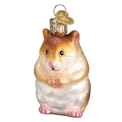 """Hamster"" (12530)X Old World Christmas Glass Ornament w/ OWC Box"