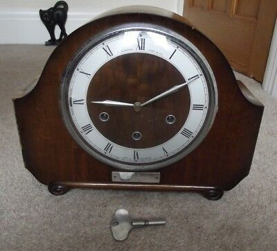B.r.e.r - Smiths Floating Balance Mantle Clock With Westminster Chimes