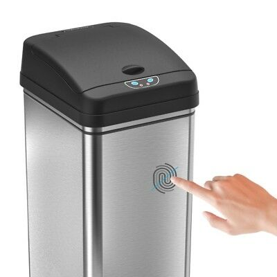 iTouchless 13-gallon Deodorizer Filtered Stainless Steel Sensor Trash Can