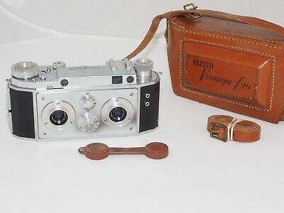 Bush Verascope f40 35mm film stereo 3D camera w/case. Made by Richard in France.