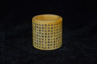 handwork Collectible Culture Style old gift b0ne carve lection amulet rare Ring