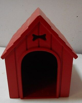 Breyer Reeves Companion Pets red dog house bone cut out wood design great shape