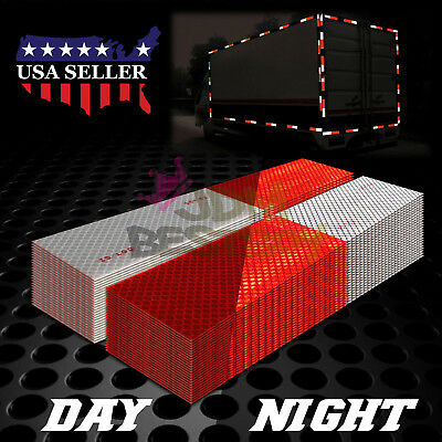 DOT-C2 Conspicuity Reflective Tape Red White 1 Foot Safety Warning Trailer RV