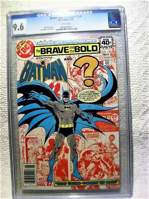 Cgc Graded 9.6 The Brave & The Bold #150 Starring Batman May 1979 No Reserve Wow