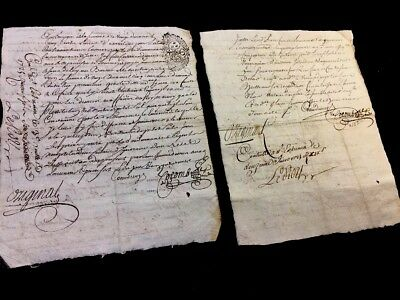 COLLECTION OF TWO AUTOGRAPHED DOCUMENTS 1700s