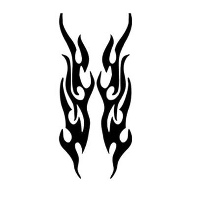 2pc Car Reflective Stickers Flame Fire Sticker Personalized Vinyl Decal Offroad