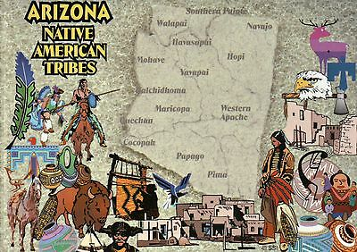 Map Of Arizona Indian Tribes.Arizona Native American Indian Tribes Navajo Hopi Apache Etc State