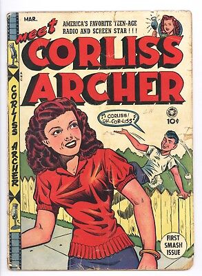 Meet Corliss Archer #1 Vol 1 Very Nice Mid Grade Classic Cover Used in SOTI 1948