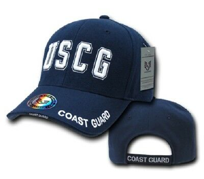 USCG US Coast Guard Küstenwache USA Deluxe Law Enforcement Cap Mütze Navy Blue