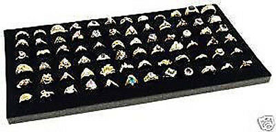 Black Foam 72 Ring Display Jewelry Pad Insert Counter-Top Displays Rings