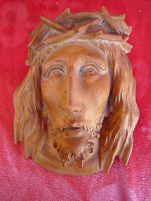 Emebellecedor, ANTIGUO MADERA CON RELIEVE __ Jesús ___ TIROL _