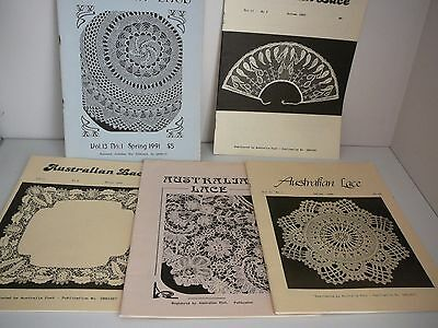 Australian Lace Guild Newsletters x 5 Making Lace Patterns Designs