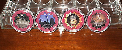 $5. Horseshoe Casino Chips - Cleveland - Limited Edition Sample Set - 4 Chips