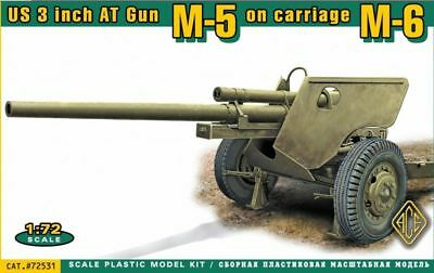 ACE 72531 - 1:72 US 3 inch AT Gun M-5 on carriage M-6 - Neu