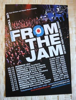 From The Jam Flyer, - 2008 - A5 Promo Flyer - Uk Tour 2008