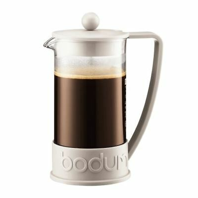 Bodum Brazil French Press Coffee Maker 8 Cup (1.0L/34oz) - Off White (Pack of 2)
