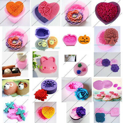 Silicone Fondant Mould Cake Decorating Chocolate Mold Cupcake Cookies Cutter DIY