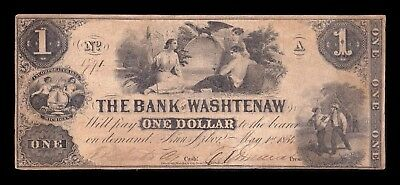 B-D-M United States of America 1 Dollar 1854 Bank of Washtenaw Michigan
