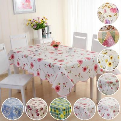 Moisture /Oil Proof PVC Table Cloth Cover Home Dining Kitchen Tablecloth BA AU #