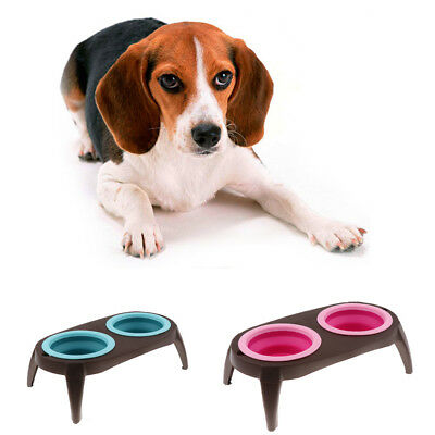Removable Dog Folding Bowl Pet Cat Puppy Food Water Feeding Travel Bowl