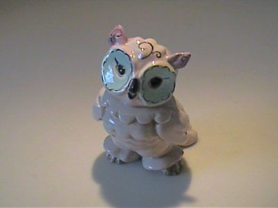 Vintage 1950's Kay Finch Pottery Pink And Sea Form Green Owl