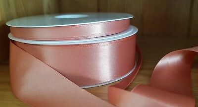 Berisfords Rose Gold Double Sided Satin Ribbon 3,7,10,15,25,35,50mm