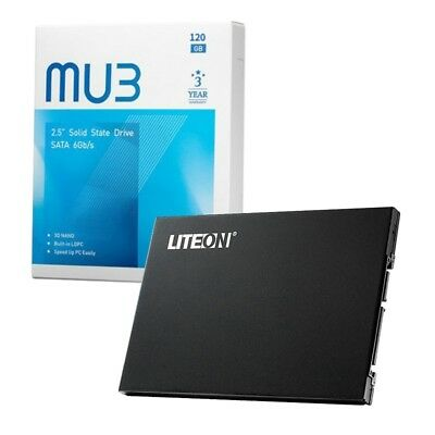 120GB Lite-On Solid State Drive (SSD) 2.5 inch SATA 3 Internal 120GB - BRAND NEW