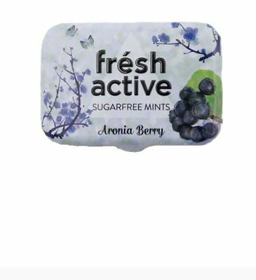 12 x 20g FRESH ACTIVE Sugar Free Aronia Berry Mints