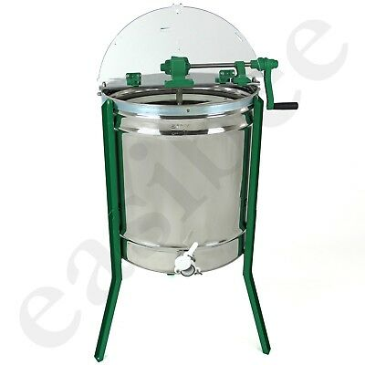 New 9 frame manual stainless steel honey extractor
