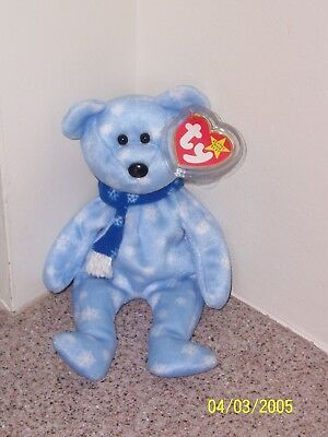 1999 HOLIDAY TEDDY BEAR Ty Beanie Baby MINT WITH MINT TAGS