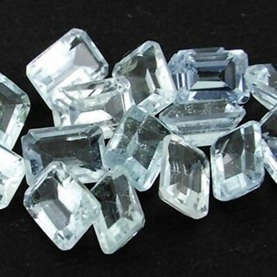 Wholesale Lot of 8x6mm Emerald Cut Natural Aquamarine Loose Calibrated Gemstone