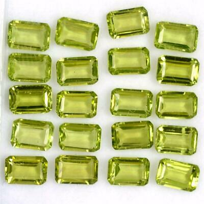 Wholesale Lot of 6x4mm Emerald Cut Natural Peridot Loose Calibrated Gemstone