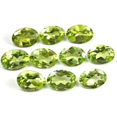 Lot of 8x6mm & 9x7mm Oval Facet Cut Natural Peridot Loose Calibrated Gemstone