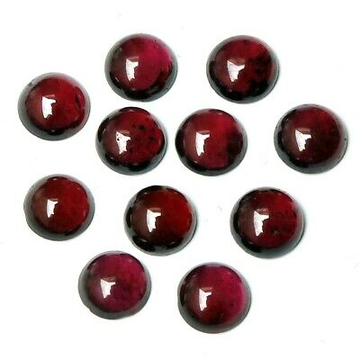 Wholesale Lot of 5mm Round Cabochon Natural Garnet Loose Calibrated Gemstone